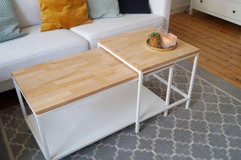 Ikea Hack Diy Vittsjo Makeover Wie Ihr Den Ikea Vittsjo Couchtisch Gunstig Aufwertet Ikea Couchtisch Wohnzimmertische Couchtisch