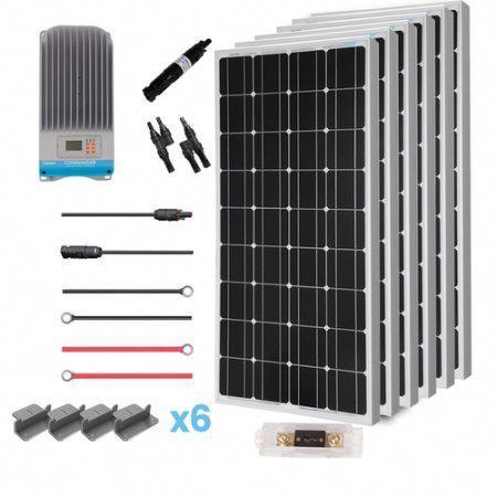 Renogy 600 Watt 12 Volt Solar Premium Kit W 6 Pcs 100w Solar Panel 60a Mppt Charge Controller Sola Monocrystalline Solar Panels Best Solar Panels Solar Panels