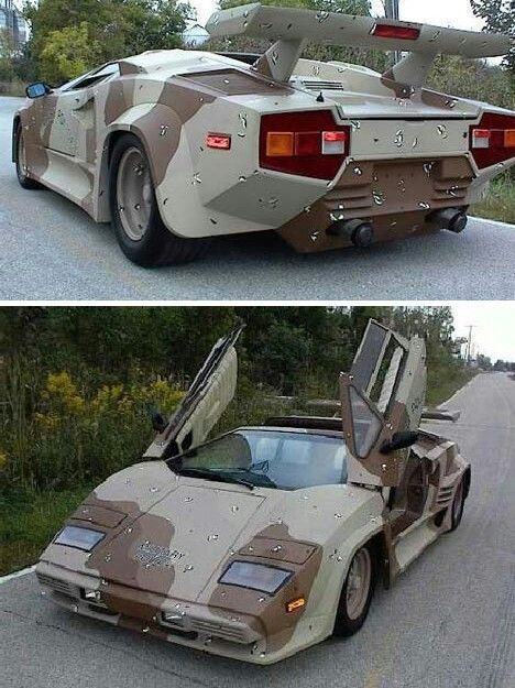 Lambo In Camo (Lamborghini Countach) | Automobile Awesomeness | Pinterest |  Lamborghini, Cars And Car Paint Jobs