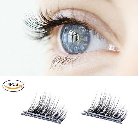 c1205e6821c New Magnetic False Eyelashes , Ultra Thin 3D Fiber Reusable Best Fake Lashes  Extension for Natural and Reusable Fake Eyelashes Natural Look, ...