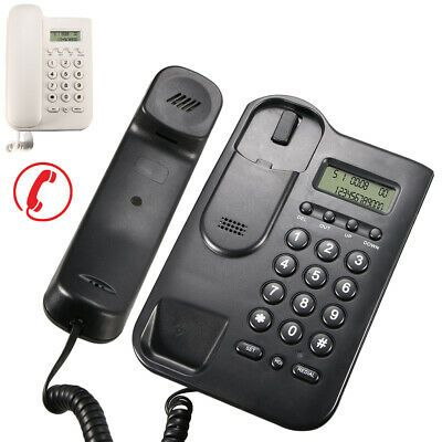 Wall Mounted Corded Home Office Landline Table Telephone With Caller Id Desktop Landline Phone Phone Handset