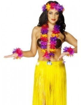 Hawaiian 4 Piece Set  sc 1 st  Pinterest & Hawaiian 4 Piece Set | Hawaiian Beach Party Luau Costumes ...