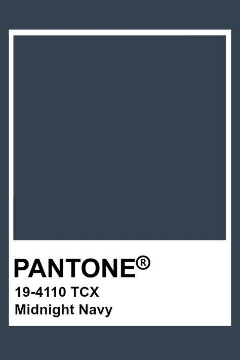 Pantone Midnight Navy