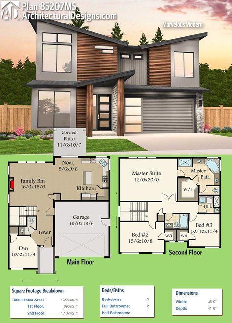 Plan 85207ms Marvelous Modern Modern House Plans Modern House Plan Sims House Plans Floor plan of a modern house