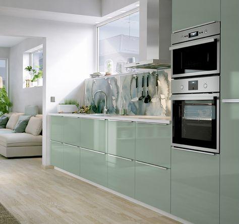 La tua nuova cucina   Cucina ikea, Cucina verde chiaro e ...