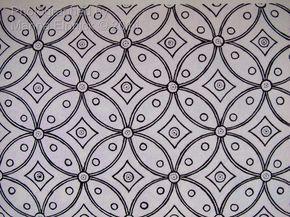 Kawung Batik Motif Cara Menggambar Sketsa Klasik