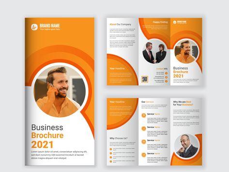 Tri-fold Business Brochure Template Design