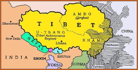 Tibet Mapa Politico Buscar Con Google Tour Du Monde Cartes