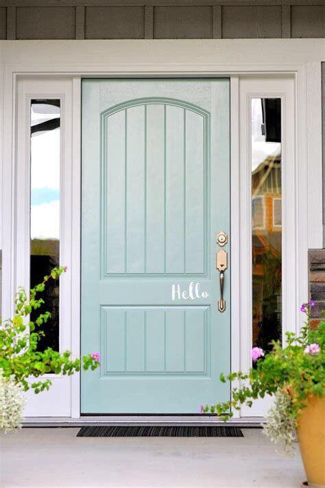 Hello Door Decals Hello Vinyl Door Decal Hello Front Door Decals Hello Office Decor Custom Vin Painted Front Doors Front Door Paint Colors House Exterior