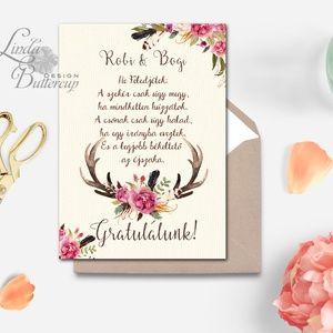 házasságkötési gratulációs idézetek Pénz átadó boríték, Nászajándék, Gratulálunk képeslap, Esküvői