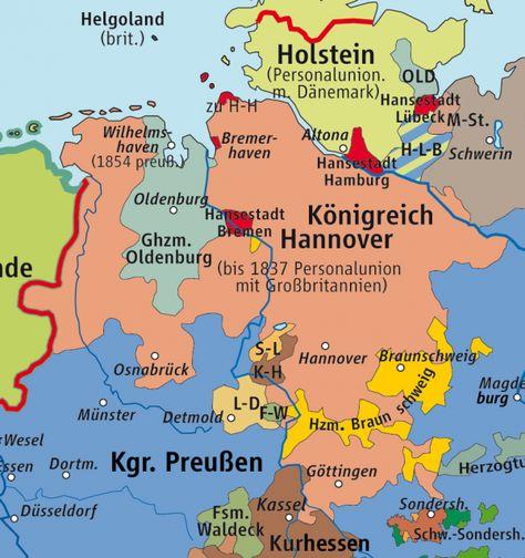 Map Of Northern Germany Around 1860 Oldenburg Hannover Hamburg