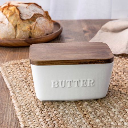 Better Homes & Gardens Porcelain Embossed Butter Dish Farmhouse Butter Dishes, Farmhouse Kitchen Decor, Kitchen Dining, Industrial Farmhouse, Country Kitchen, Kitchen Pantry, Kitchen Items, Kitchen Stuff, Zucchini