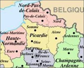 Kaart Frankrijk Departementen Regio S Kaart Picardie En Amiens Frankrijk Vakantie Frankrijk Kaarten Vakantie