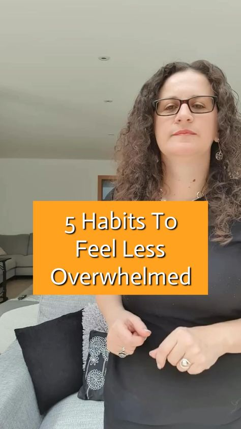 In this video you can see 5 habits to help you feel less overwhelmed. Start slow, make it a habit and then progress to the next one. A daily step in the right direction will add up over time! #feelingoverwhelmed #howtodeal #stressfreezone #reducestress #removestress #healthyhabits #healthiest #healthylifestyles #healthylifechoices #healthyadvice #healthytips #healthyinfo #howtobehealthy #dothisnotthat #healthyideas #wellnessthatworks #mentalwellbeing #mentalhealthtips #mentalwellness