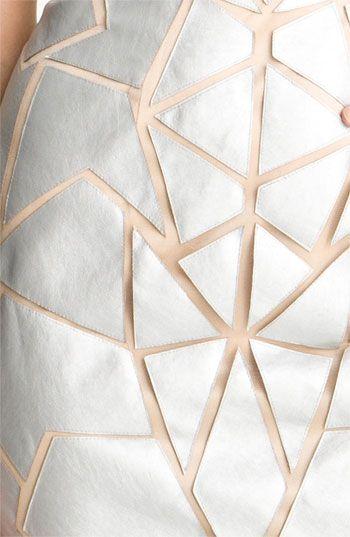 Aidan Mattox Geometric Appliqué Tulle Sheath Dress   Nordstrom