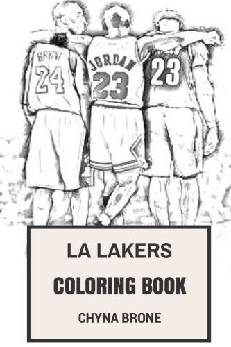 La Lakers Coloring Book Los Angeles Nba Artists Fans And Kobe By