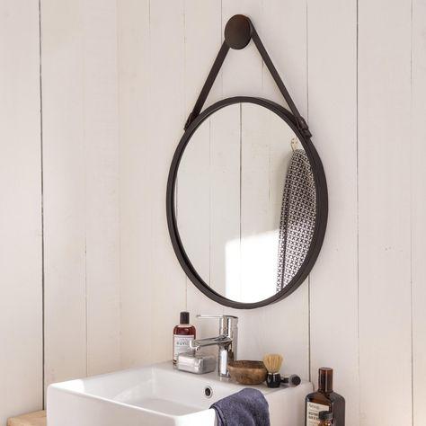 Miroir rond Barbier, noir, l.53 x H.53 cm | Products en 2019 ...