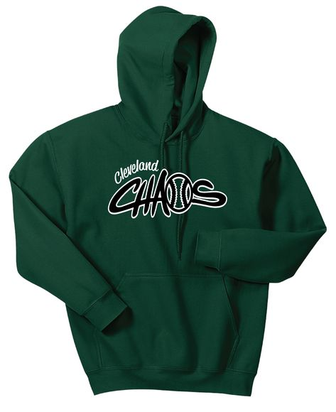Hooded Sweatshirt. Cleveland Chaos logo on front.
