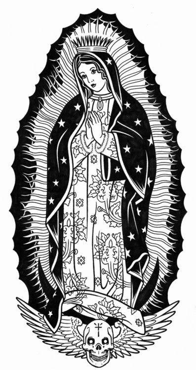 Pin by Alexander Bui on Virgin Mary/ Santa Muerte   Tattoos