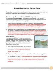 Carbon Cycle Worksheet Answers Pdf - worksheet