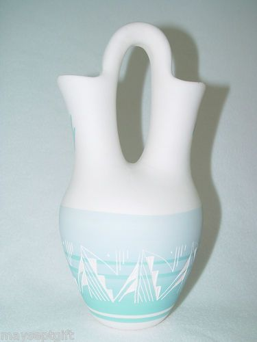 Native American Marjorie Joe Navajo Pottery Wedding Vase Navajo