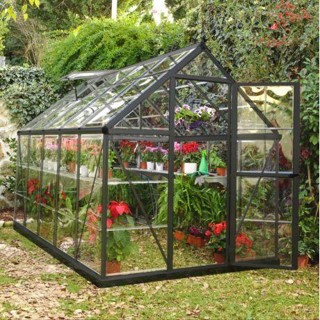 Serre Polycarbonate Vert 10 37 M Habrita Serre Jardin Jardins Et Serre Polycarbonate