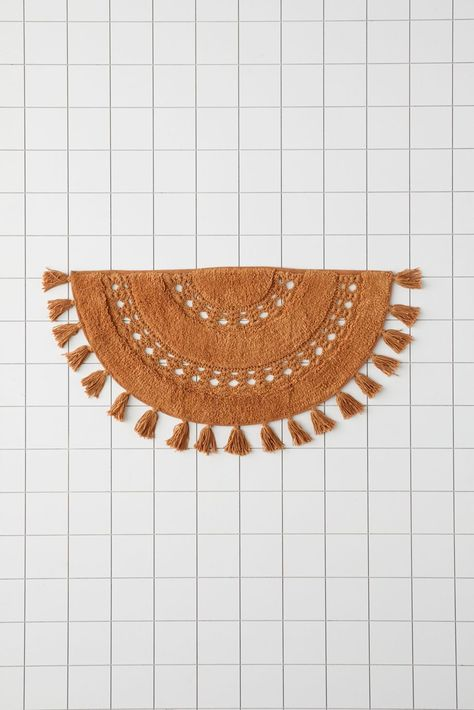Shop Crochet Sun Bath Mat at Urban Outfitters today. We carry all the latest styles, colors and brands for you to choose from right here. Boho Glam Home, Hippie Home Decor, Gothic Home Decor, Boho Decor, Boho Bathroom, Bathroom Rugs, Bath Rugs, Bathroom Ideas, Bathrooms