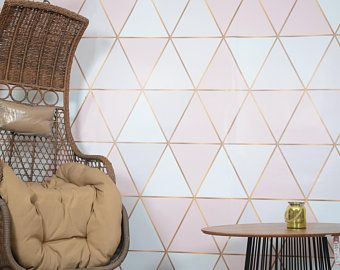 3d Abstract Pink Gold Geometric Shapes Wallpaper Removable Self Adhesive Wallpaper Wall Mural Vintage Art Peel And Stick Wallpaper Walls Decor Wall Wallpaper Geometric Wallpaper For Walls