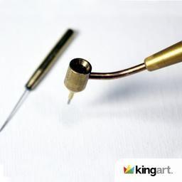 Kingart Fine Line Painting Pen Stem Flow Size 5mm Touch Up Paint Metal Pen Dry Well