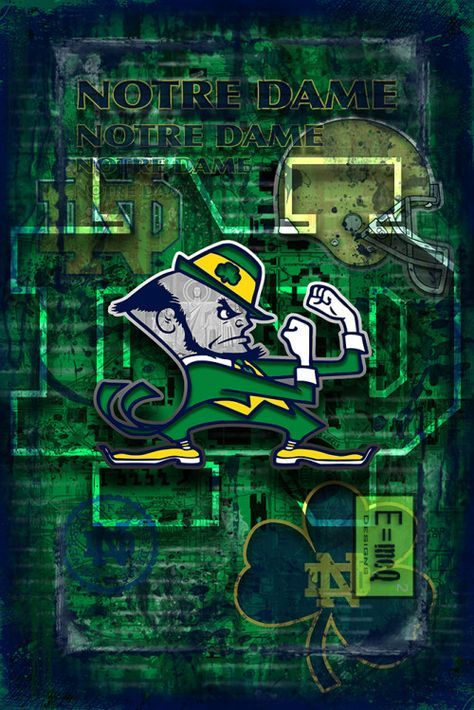 Notre Dame Fighting Irish Poster, ND Fighting Irish Gift, Notre Dame