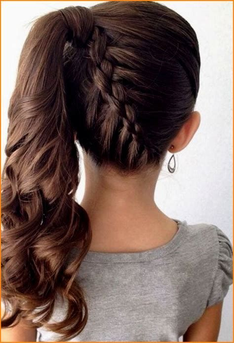 Easy Hairstyle For Evening Party Party Hairstyles For Long Hair Using Step By Little Girl Braid Hairstyles Girls Hairstyles Braids Braided Ponytail Hairstyles
