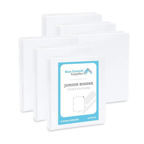 Blue Summit Supplies Mini 3 Ring Binder Junior 1 Inch Mini Binder Small 3 Ring Binder Small Size Fits 5 1 2 X 8 1 2 B Small Binder Mini Binder Small Planner