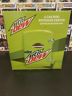 Mountain Dew 6 Can 10 Mini Refrigerator Fridge 120v And 12v Car Adapter In 2020 Mountain Dew Refrigerator Fridge Mini Cooler