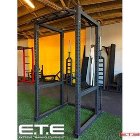 Ete Power Rack 2 5 8 Tall 3 X 3 Tubing 11 Gauge Steel Multi Grip Pull Up Bar For Front Single Pull Up Bar Re Power Rack Diy Pull Up Bar