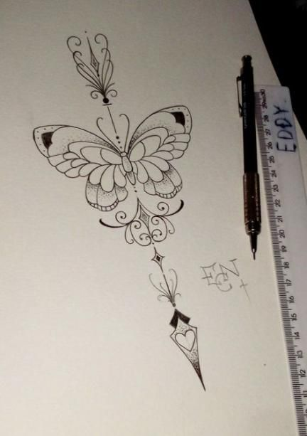 43 New ideas for tattoo butterfly and flowers papillons #tattoo #flowers