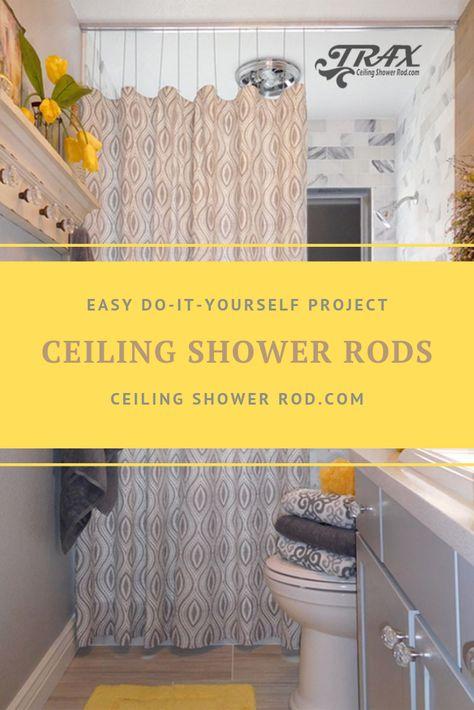 Straight Shower Rod Shower Rod Small Bathroom Rustic Bathrooms