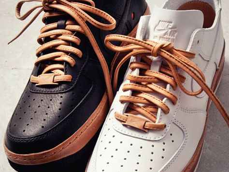 size 40 8469e 2fdcc Nike Air Force 1 Bespoke  Vachetta Leather ...this is how you make your  laces talk