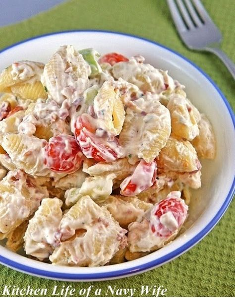 The Kitchen Life of a Navy Wife: Bacon Ranch Pasta Salad