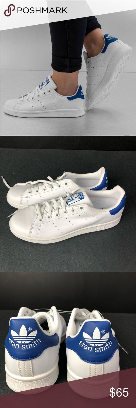 Adidas Originals Stan Smith White Blue Sneakers Sneakers by