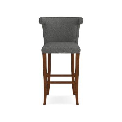 Surprising Regency Bar Stool Signature Velvet Cyan Walnut Leg Andrewgaddart Wooden Chair Designs For Living Room Andrewgaddartcom