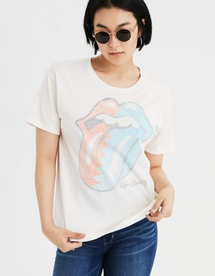 e7df227022d AE Rolling Stones Cropped Graphic T-Shirt | clothes | Clothes for ...