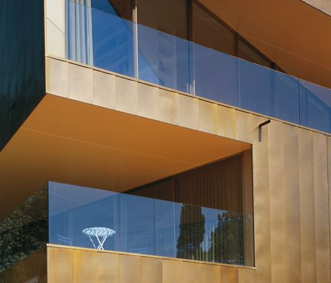 tecu brass facade by kme architonic hoffmanowej pinterest brass facades and facade design