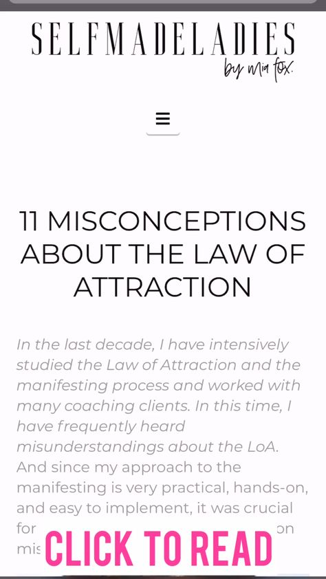 11 Misconception about the Law of Attraction, hot the LoA works, Manifestation tips and Tricks, how to attract your dream life. Click through to the post to learn more about how manifestation with the Law of Attraction really works.