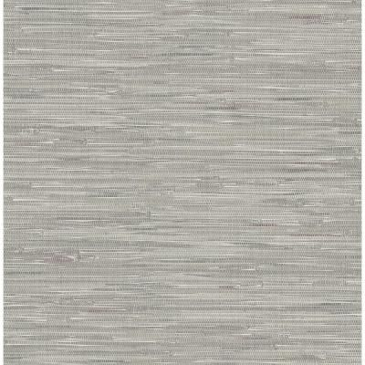 Brewster Natalie Grey Faux Grasscloth Paper Strippable Roll Covers 56 4 Sq Ft 2704 22268 The Home Depot Grasscloth Wallpaper Peel And Stick Wallpaper Grey Wallpaper