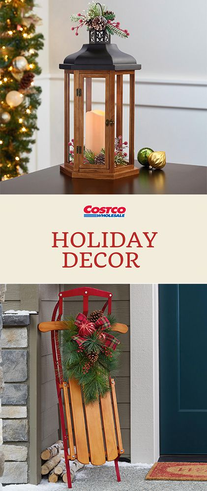 From Sleds To Lanterns Find Holiday Decorations At Costco Com