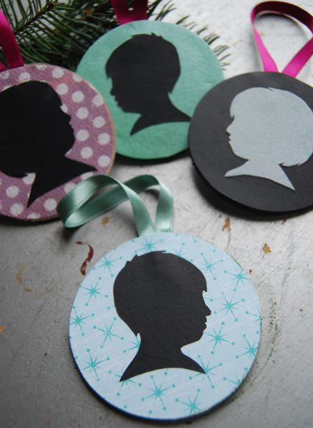 Need to do these silhouette ornaments for Christmas 2013