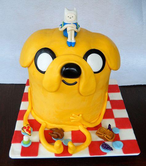 поделки картинка на торт фин и джейк раньше