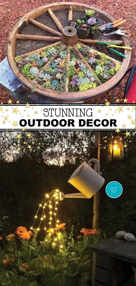 diy projects Check out some of the most incredible, outdoor decor ideas that you& absolutely love! Jazz up& PAK The post Check out some of the most incredible, outdoor decor ideas that you& absolutely love! Jazz up& appeared first on Diy and crafts. Outdoor Garden Decor, Diy Garden Decor, Outdoor Gardens, Outdoor Dining, Outdoor Rugs, Diy Crafts Garden, Diy Outdoor Decorations, Back Yard Gardens, Farm Decorations