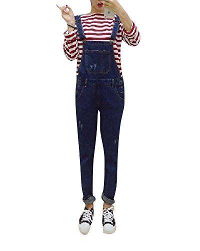 meilleur prix pour divers design gamme complète d'articles Femme Salopette Jeans Slim Fit Skinny Sangle Réglable Taille ...