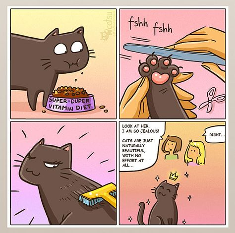 15 Comics That Purrfectly Capture Life With Cats Mit Bildern